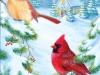 e124- Christmas Cardinials
