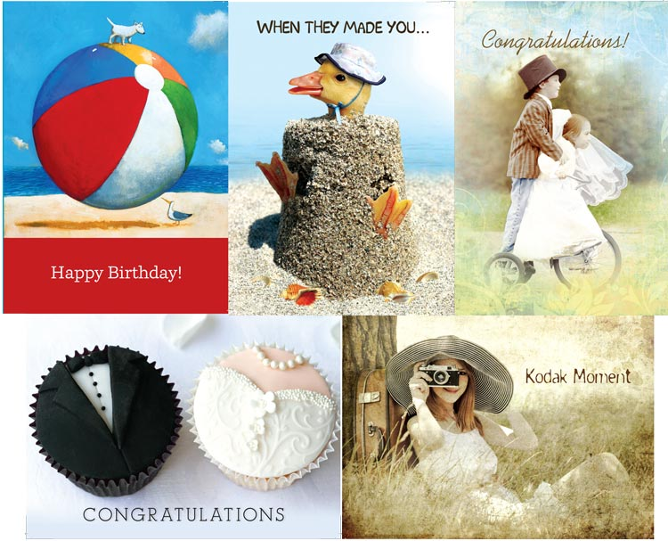 Just some of the new designs in our latest offering of cards.